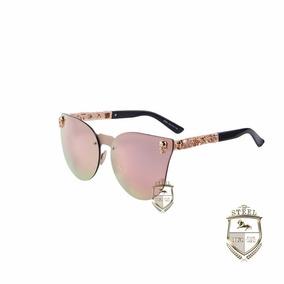 Lentes Gafas De Sol Calaveras Skulls Steel Rosa Craneos