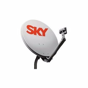 6 Antenas Sky 60 Cm + 6 Lnb Simples.