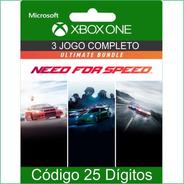 Need For Speed Conjunto Ultimate Xbox One Código 25 Dígitos