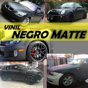 Vinil Negro Mate Y 3d 152cm X 1m P Autos Camionetas Motos
