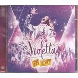 Violetta En Vivo - Cd-dvd Original Nuevo - Un Tesoro Músical