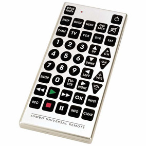 Control Universal Jumbo Tamaño Gigante Para Todas Marcas Tv