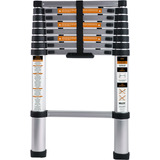 Escada Telescópica Alumínio Multifuncional 2,6m 8 Degraus