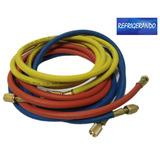 Conjunto De Mangueira Para Manifold Gás R410 Pressão 4000psi
