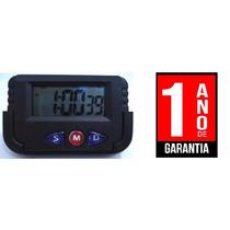 Relógio Digital Carro Cronometro Despertador Portatil Painel