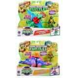 Pack 2 Tortugas Ninja + 2 Dinosaurios / Happy Store