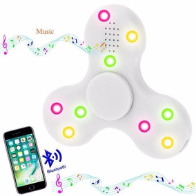 Hand Spinner Fidget Toca Musica Bluetooth Led