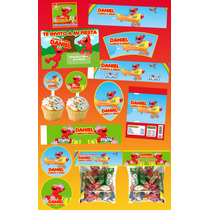 Kit Imprimible Elmo Personalizado 30 Etiquetas