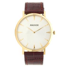 Relógio Magnum Masculino Ma21900s Marrom/dourado - Clocke