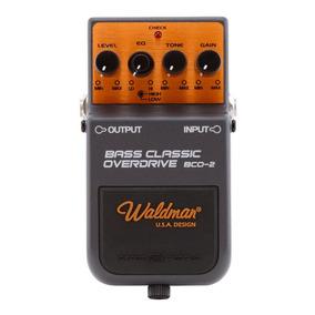 Pedal Para Baixo Waldman Bass Classic Overdrive Controles Le