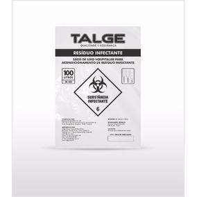 Saco De Lixo Hospitalar Para Resíduo Infectante - Talge 100l