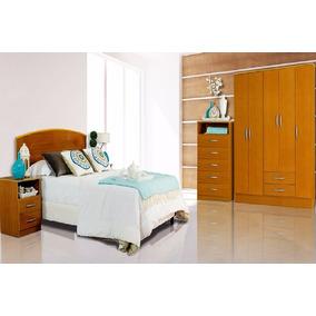 Dormitorio Cama 2 Plazas+2 Mesas+placard+chifonier Mosconi