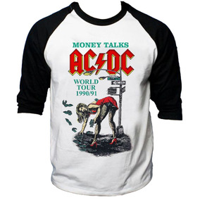Camisa Raglan 3/4 Acdc Hard Rock Album Back Hell Tnt #2