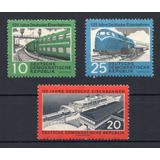 D D R 1960 Mi 804c/5 A/6c** Yv 519/21 Mint Trenes