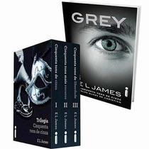 Box Cinquenta 50 Tons De Cinza + Grey ( 4 Livros Lacrados )