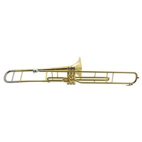 Trombone De Pisto Longo - Sib Weril Laqueado Sem Estojo - F6