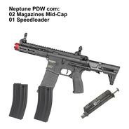 Rifle Airsoft Ar15 Rossi Neptune Pdw 2 Midcaps Nova E Nota