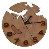 Giftgarden Relojes De Pared De Madera Decoración De Pájaros