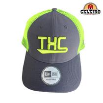 Boné Com Tela Importado New Era Txc Brand Cinza Verde Limão