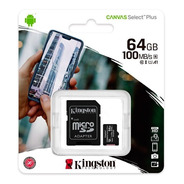 Tarjeta Memoria Micro Sd64gb Kingston Canvas Plus Clase 10