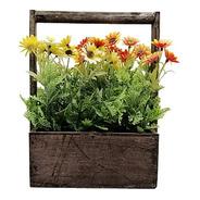 Macetero Con Flores Artificiales