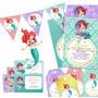 Kit Imprimible La Sirenita, Princesa Ariel Vintage Candy Bar
