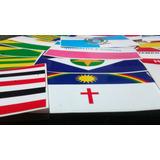 Kit C/28 Bandeiras - Estados Brasileiros + Brasil - 9x5,7 Cm