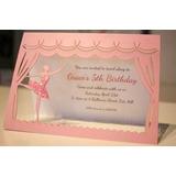 Convite Bailarina-arquivo De Corte