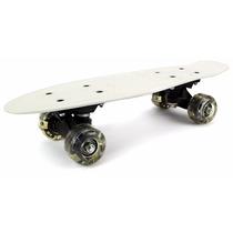 Mini Patineta Banana 16 Pulg Skateboard Luces En Las Ruedas!