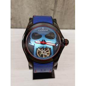 Reloj Corum Bubble Skull Negro/azul 45mm (fotos Reales)