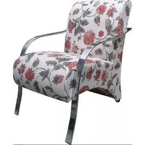 Cadeira Decorativa Com Braço Madeira,braço Alumínio