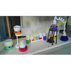 Equipo Laboratorio Quimica Tejido! Crochet Amigurumi Peluche