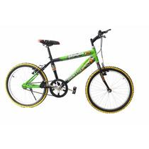 Bicicleta Infantil Bravia Rodada 20 Montaña Para Niño Casco