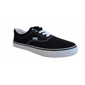 Zapatillas Ocn Nauticas Negras Unisex Skate Tipo Vans
