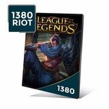 League Of Legends Lol - Cartão 1380 Riot Points Rp Br Brasil