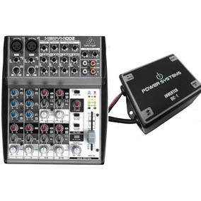 Mesa De Som Behringer Xenyx 1002 + Inversor Power Systemsdc1