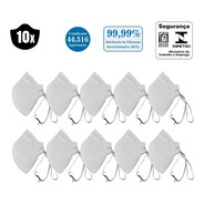 10 Máscara N95 Hospitalar 4 Camadas Reutilizável E Regulável