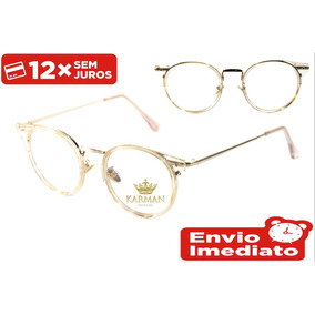 Armação Óculos P  Grau Feminino Masculino Geek Fashion. R  51 2018e44f4f