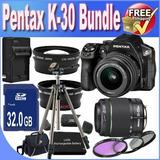 Cámara Digital Pentax K-30 Con Mm Al Y Mm Al Kit De Lente