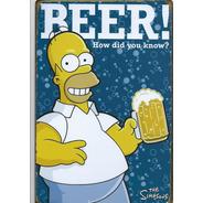 Cartel Chapa Litografias Decoracion Vintage Homero Simpson