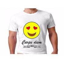 Camiseta Emotions Carpe Diem Tecido 100% Poliester Dry Fit