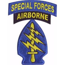 Airborne Special Forces Boinas Verdes Parche Bordado Militar