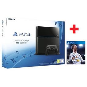 Playstation 4 - 1 Tera + Fifa 18 - Nuevos Con Garantia