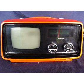 Tv Televisor Vermelha Sharp Japão 110 W Funcionando Antiga