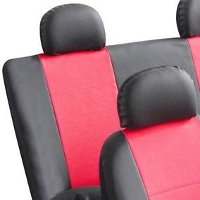 Capas De Courvin Para Bancos Automotivos - Preto C/ Vermelho