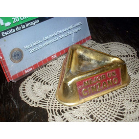 Antiguos Ceniceros Bar Cinzano Aluminio (5453)