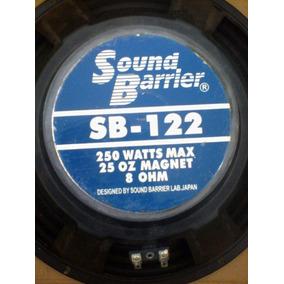Bajo Woofer 12 Sound Barrier, Sb-122, 250 Watts, 8 Ohm