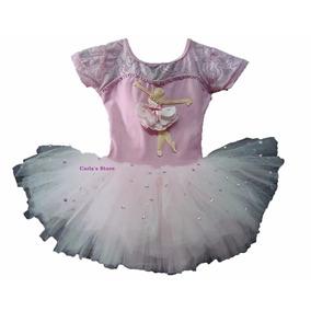 Kit Roupa Bailarina Infantil Tutu Vestido Criança Festa