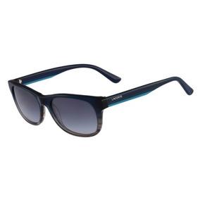 Lentes De Sol Lacoste L736s 466 Blue & Smoke Crystal