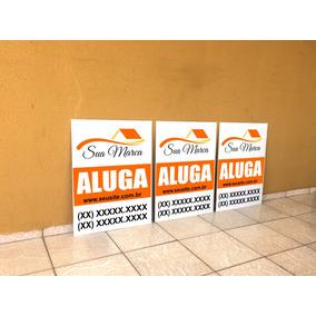 50 Placas Imobiliária 50x65cm Em Alumínio 1mm.